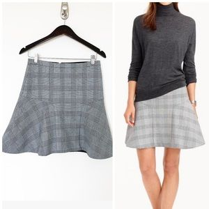 J. Crew houndstooth black and white checked skirt